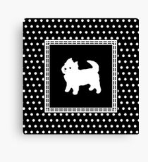 Cute West Highland Terrier Pattern Canvas Print
