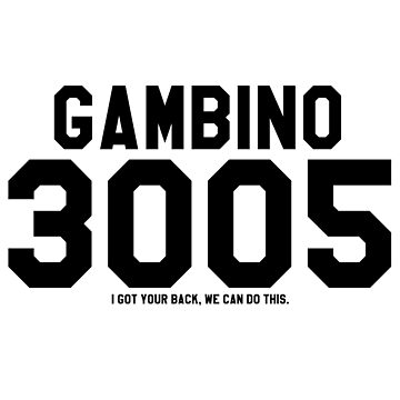 Childish Gambino Jersey (Black) by ThePhanBible