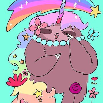 Rainbow Unicorn Sloth by SaradaBoru