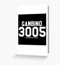 Childish Gambino Jersey (white) Greeting Card