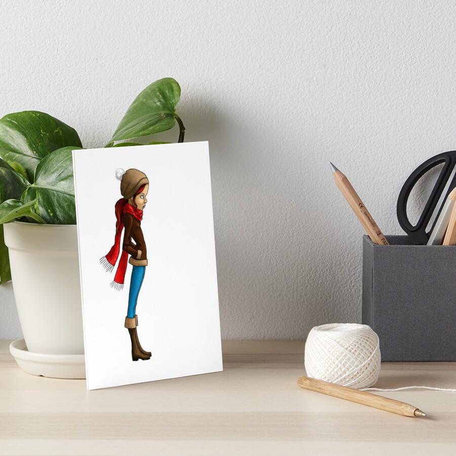 Sad girl Art Board Print