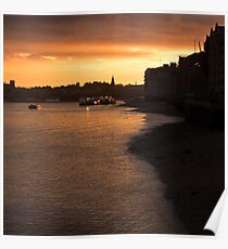Shadwell Sunset Poster