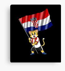 Croatia fan cat Canvas Print