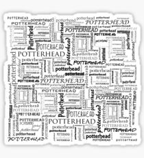 HP Potterhead texture/pattern (black) - gift idea Sticker