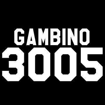 Childish Gambino 3005 Jersey (White) by ThePhanBible