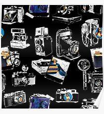Crazy OldSchool Cameras Poster