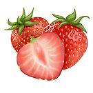 Strawberries by MadameCat-Art