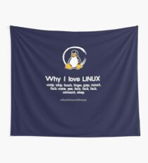 linux penguin penguin pc nerd computer programmer code sysadmin Wall Tapestry