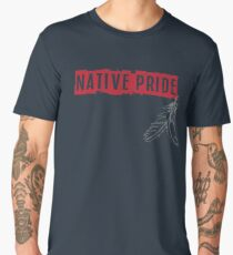 Native Pride with Feathers Men's Premium T-Shirt