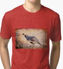 Happy Quail Tri-blend T-Shirt