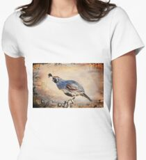 Happy Quail Women's Fitted T-Shirt