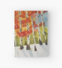 Autumn birches after a snowfall Hardcover Journal