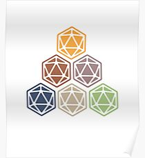 D20 Dice Dungeon Master colorful DnD Poster
