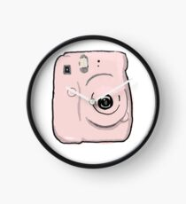 Pink Polaroid Camera Clock