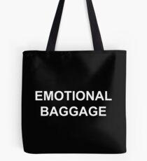 Emotional Baggage : White on Black Tote Bag