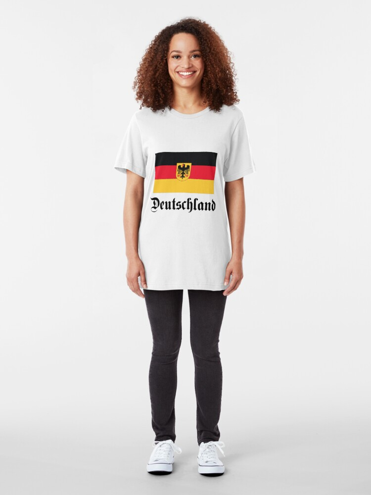 Alternate view of Deutschland - light tees Slim Fit T-Shirt