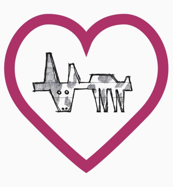 girder cow, moo love! by go sugimoto