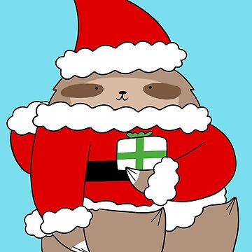 Santa Sloth by SaradaBoru