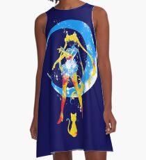 moon splash A-Line Dress