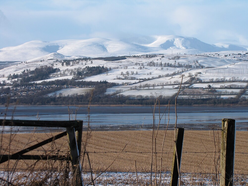 Ben Wyvis from the Black Isle Scotland by jacqi