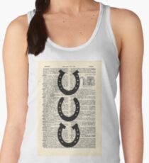 Vintage Dictionary Horseshoes Women's Tank Top