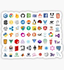 Developer icons, open source project logos, web companies Sticker
