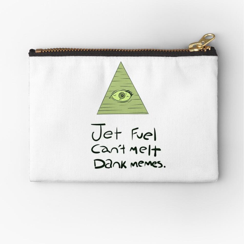 Jet Fuel Can't Melt Dank Memes Zipper Pouch