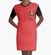 Pocket Mario Tshirt Graphic T-Shirt Dress