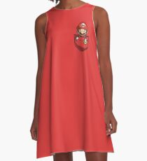Pocket Mario Tshirt A-Line Dress