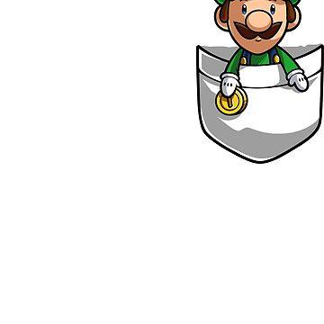 Pocket Luigi Tshirt by Purrdemonium