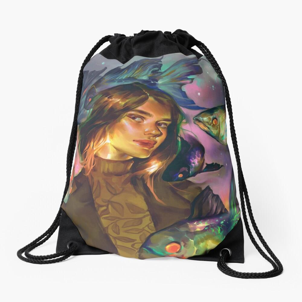 Swimming Colors Drawstring Bag