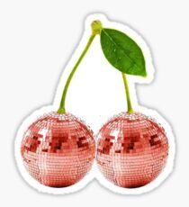 Cherry Disco Ball Sticker