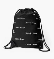 Comic Sans Drawstring Bag
