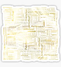 HP Potterhead texture / pattern (liquid gold) - gift idea Sticker
