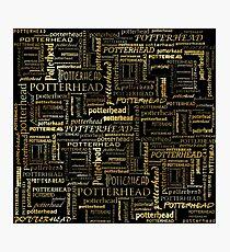 HP fan texture / pattern (liquid gold) - gift idea Photographic Print