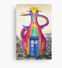Doctor Meets Dragon Canvas Print