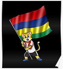 Mauritius fan cat Poster