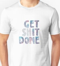 Get It / Shit Done Watercolor Lettering Typography Unisex T-Shirt