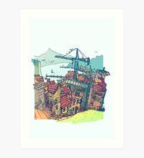 Vigo , under construction Art Print