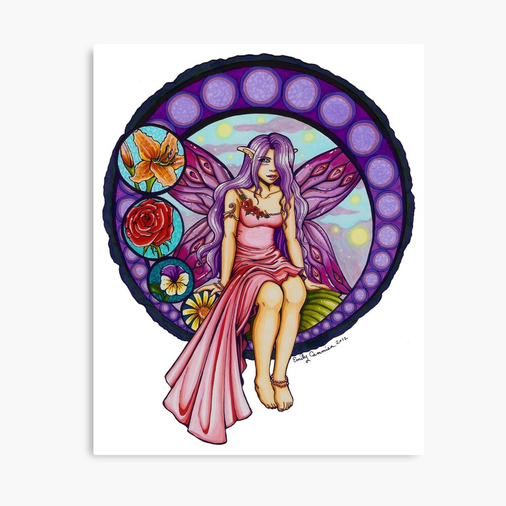 Stained Glass Fairy Lienzo