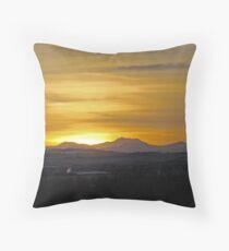 Sunset On The Rockies II Throw Pillow