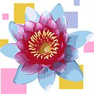 Geometric Lotus Flower by Rocket-To-Pluto