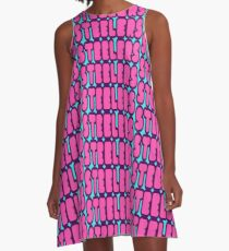 Pink Steelers Font A-Line Dress