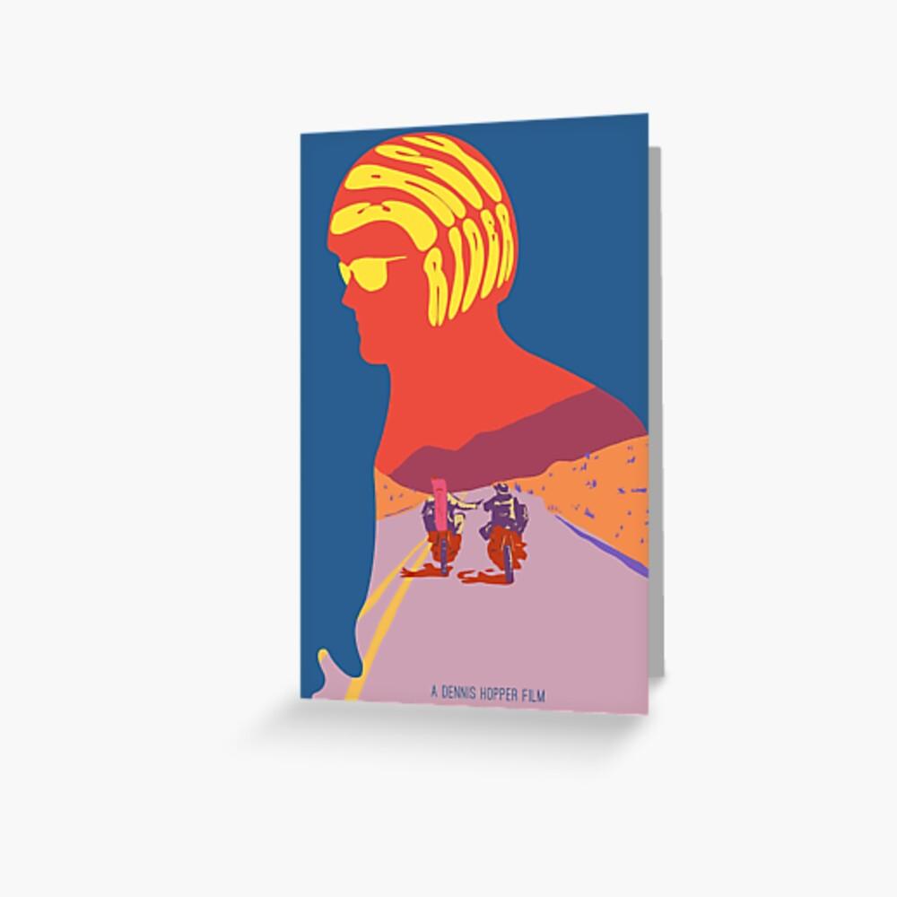 Einfaches Reiter-psychedelisches Film-Plakat Grußkarte