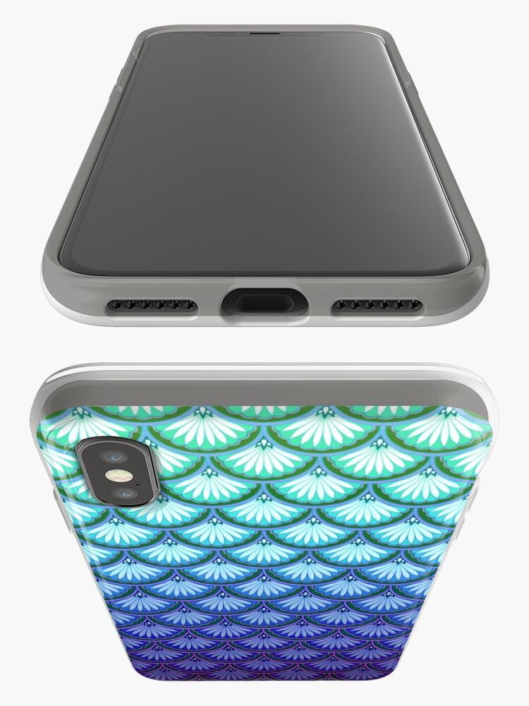 """Vista alternativa de Funda y vinilo para iPhone El """"Ahora soy una sirena"""" Diseño de vieiras"""