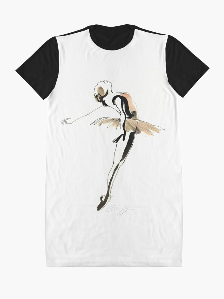 Alternate view of Ballet Dance Drawing Graphic T-Shirt Dress