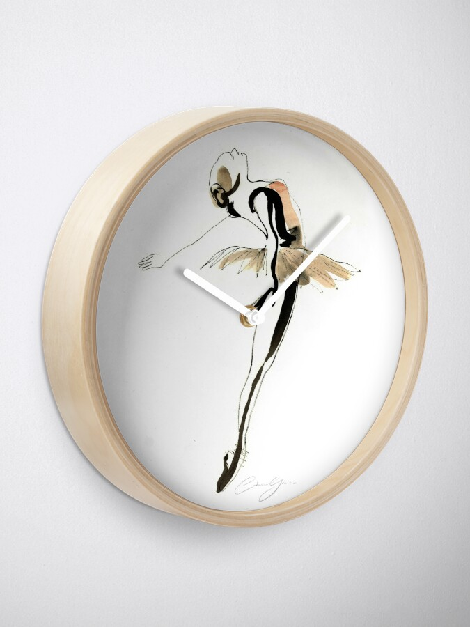 Alternate view of Ballet Dance Drawing Clock