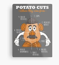 Potato Cuts Metal Print
