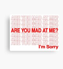 Are You Mad At Me? Canvas Print
