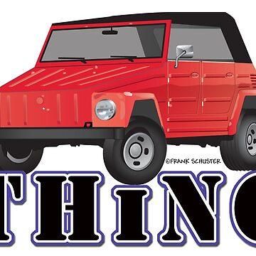 VW 181 Thing Kuebelwagen Trekker  Red & Type by azoid